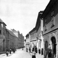 Országház street and its dwellers in the Buda Castle, around 1890