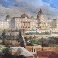 Róbert Nádler: The plan of the eastern facade of the Royal Palace of Buda, 1900