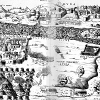Enea Vico: The Siege of Buda and Pest - copper engraving, 1542