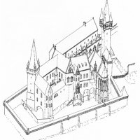 The Royal palace of Buda in the 1390s - reconstruction