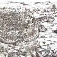 Erhard Schön: The Siege of Buda, 1541 - wood engraving, detail