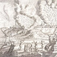 Fire In Buda, 1723 - work by an unknown master