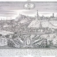 Alexander Glässer: View of Buda, middle of the 18th century