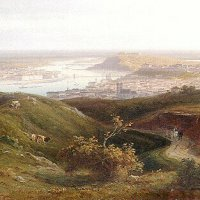 Antal Ligeti: Budapest from the József hill, 1884