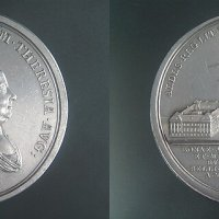 The placing of the University to Buda, silver memorial coin