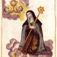Saint Clara - oil painting from the beginning of the 18th century