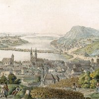 Schoffer: Buda and Pest from the Rózsadomb - coloured engraving, 1782