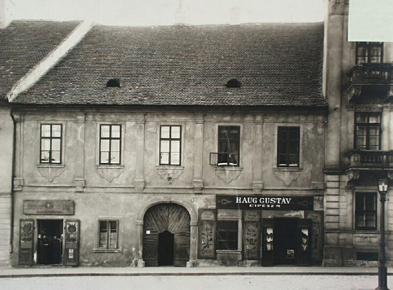 No. 10 Dísz square, around 1900