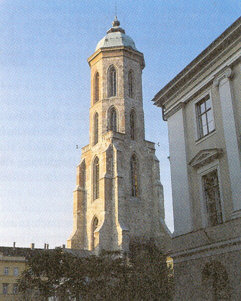 The reconstructed Maria Magdalena tower