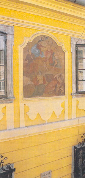 No. 16 Táncsics Mihály street, restored wall painting