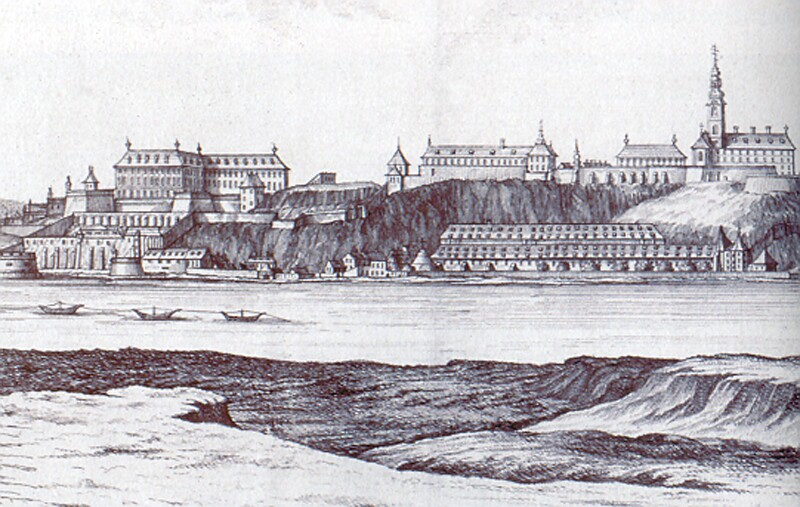 Mikovinyi - Schutzler: The view of Buda with the royal palace, 1737 - részlet
