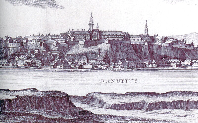 Mikovinyi - Schutzler: The view of Buda with the royal palace, 1737 - detail