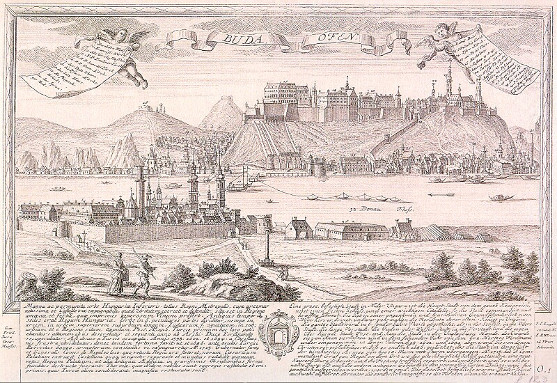 Johann Christian Leopold: View of Buda and Pest, middle of the 18th century