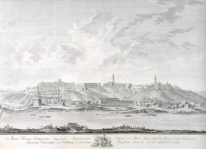 Mansfeld: View of Buda, 1777